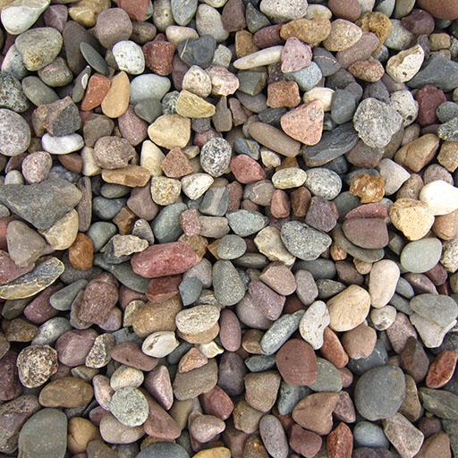 Decorative stone and mulch landscape chips rademann for Decorative river stones