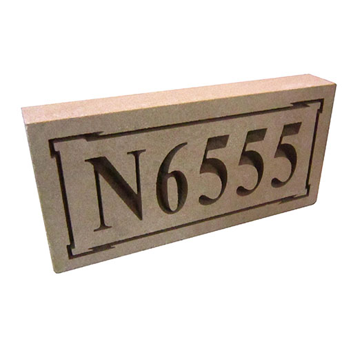 Recessed Address Stone Art Outline
