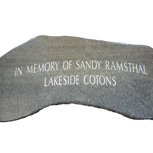Curved Bench Memorial Engraving