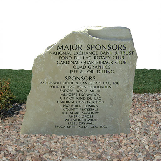 Engraved Stone Sign Sponsors