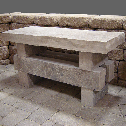 Fond du Lac Natural  Stone Bench