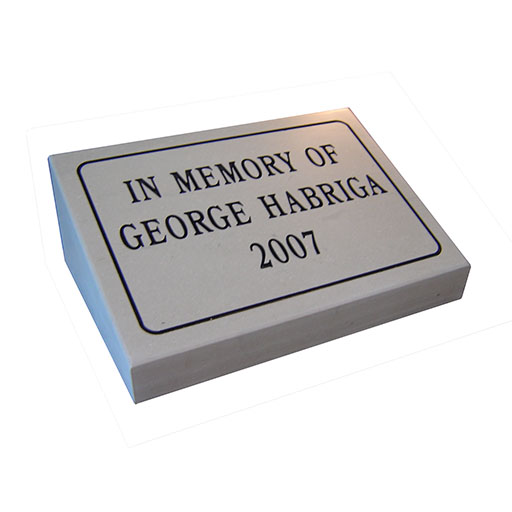 Engraved Memorial Markers